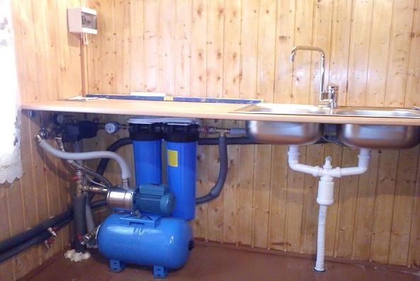 Провести воду в частный дом из скважины